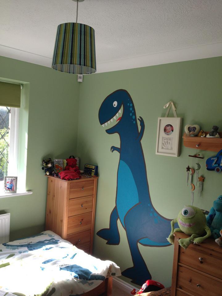 Zac's Mural - T-Rex