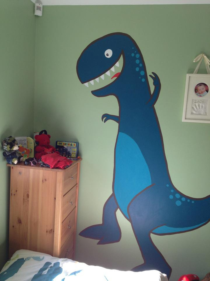Zac's Mural - T-Rex close up
