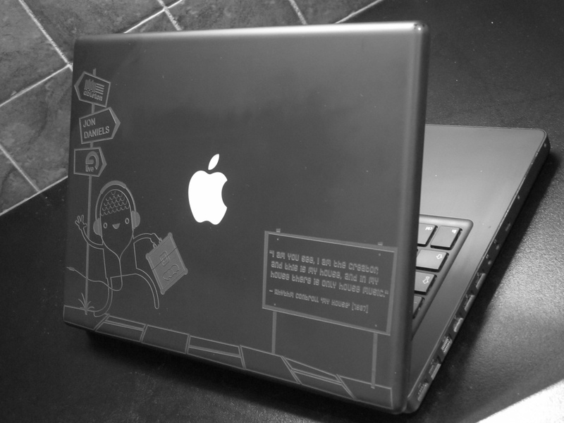 DJ Jon Daniels Macbook Etch